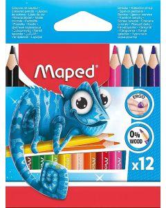 Creioane colorate 12culori/set, Pulse Mini Maped