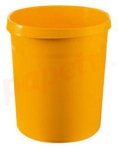 Cos plastic pentru gunoi, galben, 18L, Han Grip