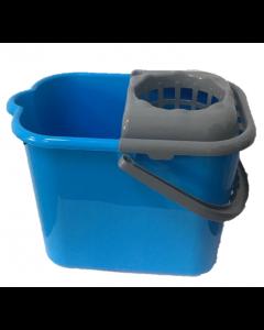 Galeata rectangulara cu storcator, albastra, 14L ALS