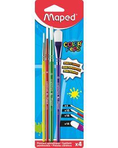 Pensule, par sintetic, asortate, 4buc/set, Maped