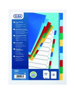 Separatoare plastic color 10/A4 Elba