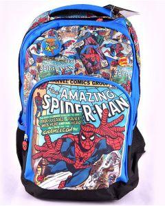 Ghiozdan scolar clasele I-IV, SMRS1940-1, albastru multicolor, Spiderman Pigna