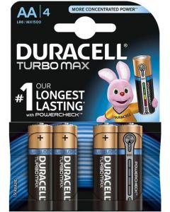 Baterie alcalina, cilindrica R6, AA, 4buc/set, Turbo Max Duracell