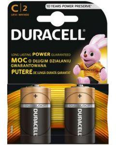 Baterie alcalina, cilindrica, R14, C, 2buc/set, Duracell