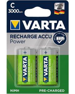 Acumulator reincarcabil, 1,2V, 3000mAh, R14, C, 2buc/set, Power Varta