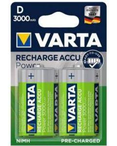 Acumulator reincarcabil, 1,2V, 3000mAh, R20, D, 2buc/set, Power Varta