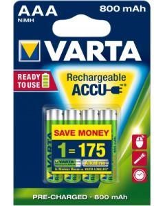 Acumulator reincarcabil, 1,2V, 800mAh, AAA, R3, 4buc/set, Varta