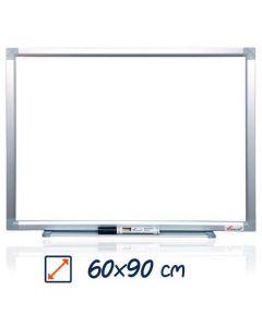 Whiteboard magnetic, 60cm x 90cm, Visual