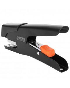Capsator metal negru, tip cleste, 24/6 si 26/6 Efortless E0358 Deli