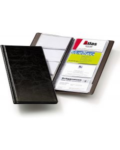 Clasor pentru carti vizita negru A4/2, 4/pagina, Visifix 238001 Durable