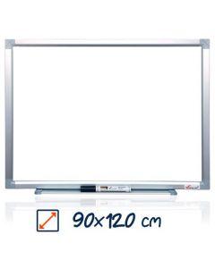 Whiteboard magnetic, 90cm x 120cm, Visual