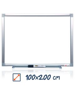 Whiteboard magnetic, 100cm x 200cm, Visual