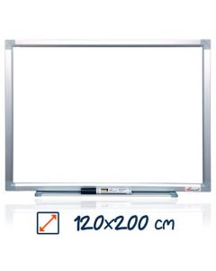 Whiteboard magnetic, 120cm x 200cm, Visual