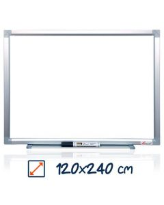 Whiteboard magnetic, 120cm x 240cm, Visual