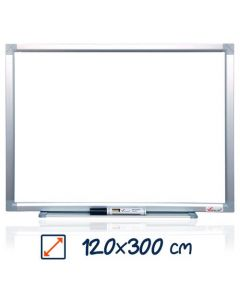 Whiteboard magnetic, 120cm x 300cm, Visual