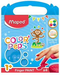 Set creativ, Pictura cu degetele, 4 culori, Color'Peps Maped