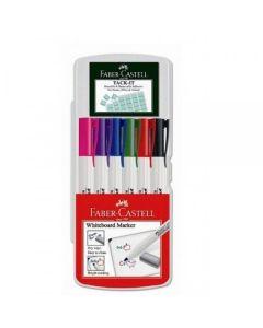 Whiteboard marker 6buc/set standard (albastru, rosu, verde, negru, roz mov), Slim 1560 Faber Castell