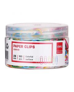 Agrafe color 29 mm, 160buc/cutie plastic, Deli