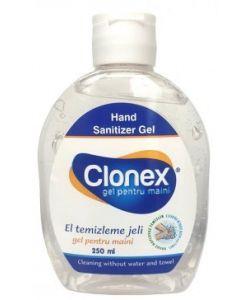 Gel cu alcool, pentru igiena mainilor fara apa, antibacterian si dezinfectant, 250ml, Clonex