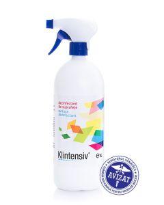 Dezinfectant antibacterian cu pulverizator pentru suprafete, 1L, Klintensiv