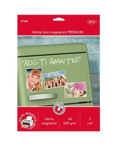 Hartie photo ink jet magnetica A4, 690g, 5 coli/top, HF469 Daco