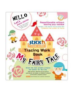 Carte de colorat si decupat Tracing Work Book - My Fairy Tale Stick'n