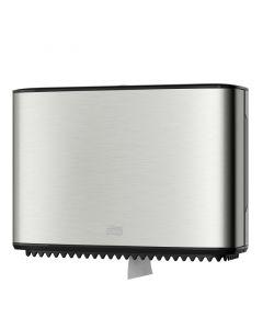 Dispenser din inox pentru hartie igienica mini jumbo, Tork 460006