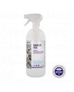 Dezinfectant cu pulverizator, pentru suprafetele, ustensilele din bucatariile restaurantelor, 1L,Dav