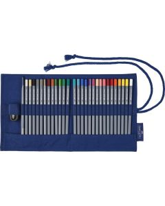 Creioane colorate 27culori/set, rollup, Aquarelle Goldfaber, Faber Castell