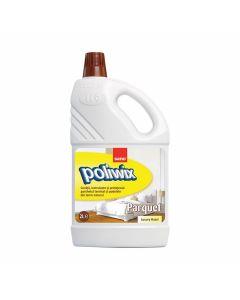 Detergent cu ceara pentru suprafete din lemn si alte suprafete delicate, 2L, Poliwix Parquet Luxury
