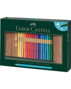 Creioane colorate, rollup si pensula, 30culori/set,  A.Durer, Faber Castell