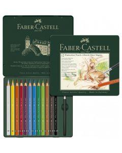 Creioane colorate, in cutie metal, 12culori/set, A.Durer Magnus, Faber Castell