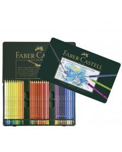 Creioane colorate, in cutie metal, 60culori/set, Acuarela, A.Durer, Faber Castell
