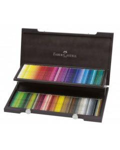 Creioane colorate, in cutie lemn, 120culori/set, Acuarela, A.Durer, Faber Castell