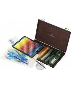 Creioane colorate, in cutie lemn, 48culori/set, Acuarela, A.Durer, Faber Castell
