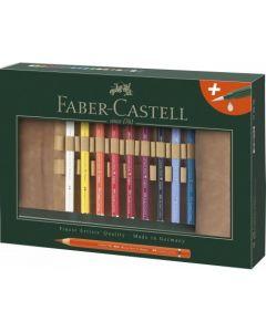 Creioane colorate, rollup si pensula, 18culori/set,  A.Durer Magnus Faber Castell