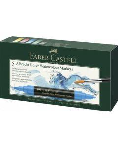 Markere solubile in apa, 5culori/set, A.Durer, Faber Castell