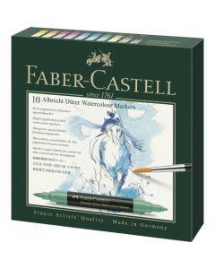 Markere solubile in apa, 10culori/set, A.Durer, Faber Castell