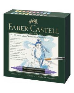 Markere solubile in apa, 20culori/set, A.Durer, Faber Castell