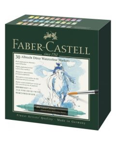 Markere solubile in apa, 30culori/set, A.Durer, Faber Castell