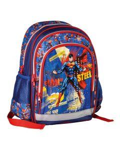 Ghiozdan scolar, 3 fermoare, Superman