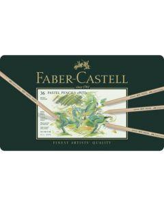 Creioane colorate, in cutie metal, 36culori/set, Pastel Pitt, Faber Castell
