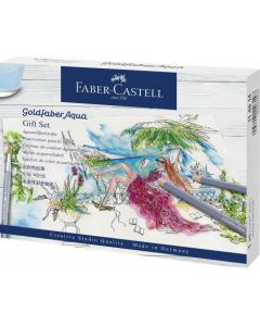 Creioane colorate si accesorii, 18piese/set, Aquarelle Goldfaber, Faber Castell