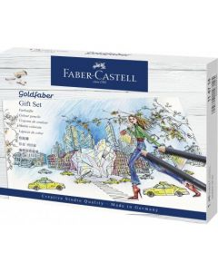 Creioane colorate si accesorii, 23piese/set, Goldfaber, Faber Castell