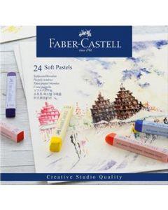Creioane pastel soft, 24culori/set, Faber Castell