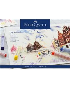 Creioane pastel soft, 36culori/set, Faber Castell
