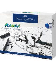Liner, 3buc/set, negru, creion mecanic si accesorii, Pitt Artist Pen Manga, Faber Castell