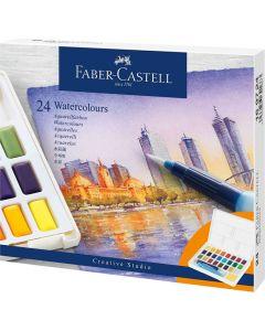 Acuarele pe baza de apa, 24culori/set, Creative Studio, Faber Castell