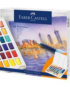 Acuarele pe baza de apa, 48culori/set, Creative Studio, Faber Castell
