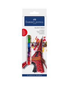 Culori acril, tub 12ml, 12culori/set, Creative Studio, Faber Castell